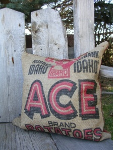 Potato sack pillow