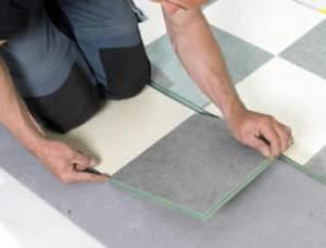 installing linoleum flooring