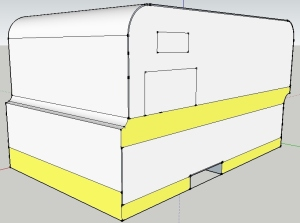 The SketchUp model in early December