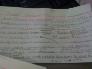 budget notecard number 2