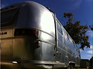 Vintage Airstream, beautiful for any type of weather.