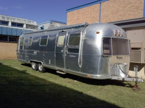 This is the wonderful Airstream that we get to redesign, located in the back courtyard. (Picture taken by another classmate.)