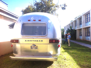 Back view of the Airstream with its reference number!