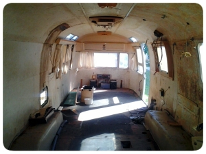 The interior of the airstream in all its glory.