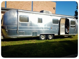 The airstream exterior.