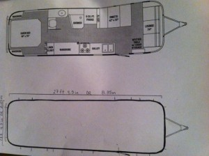 Example Airstream floor plan