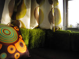 By adding a pillow it adds a pop of groovy to the room.