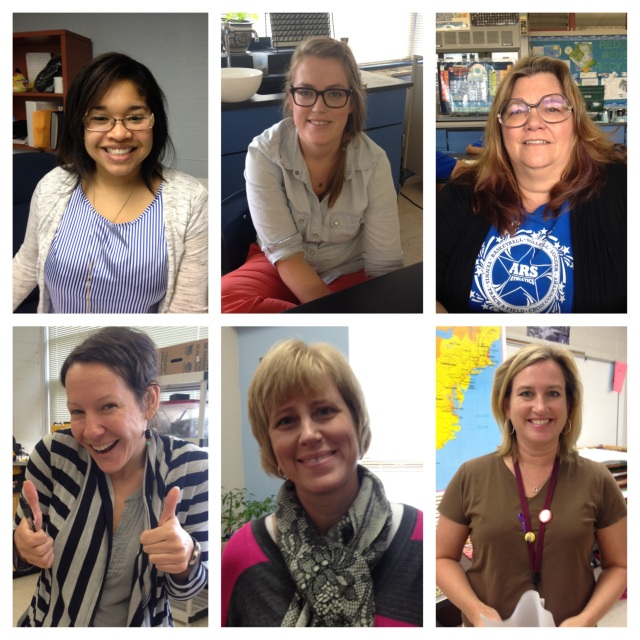 (From left to right) Ms. Robinson, Ms. Sauter, Ms. Nixon, Ms. Mote, Mrs. Waugh, and Ms. DiCuffa!