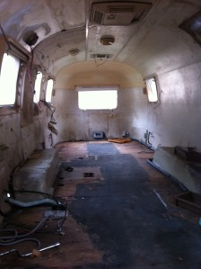 This is a picture of the trailer before renovation, taken by another student