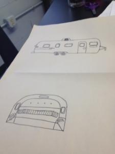 Itzel's Airstream Pencil Sketches