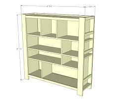 This is an example of a bookshelf with many compartments which can be used for multiple purposes.