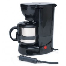 A DC Powered Coffeemaker (source: http://www.spheralsolar.com/products/Coffee-Maker-12V-DC.html)