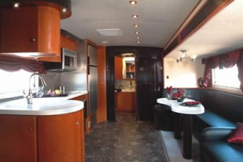 This is an example of the layout of a trailer with a slide -www.travelizmo.com