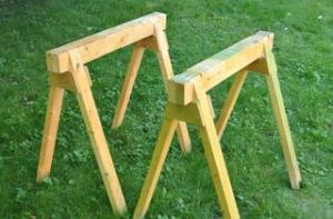 Some nice, sturdy sawhorses, not unlike the ones that we will be making! (source: http://woodgears.ca/sawhorse/index.html )