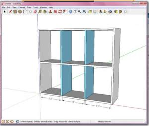 I resreached how to make a good bookshelf and I found this one which doesn't have the exact dimensions but close to the same design we want.  http://ana-white.com/2011/03/how-do-i-design-my-own-plans-google-sketchup