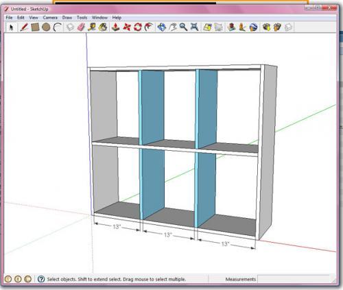 bookshelf design dimensions