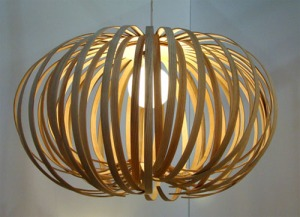 A beautiful lamp made out of sustainable, locally harvested wood http://www.designtopnews.com/furniture-design/nori-morimotos-sustainable-wood-light-sculptures/