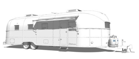 Someone has already modeled an Airstream using Sketch-up!