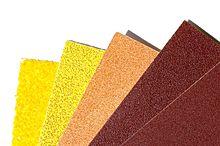 Sandpaper. http://en.wikipedia.org/wiki/Sandpaper