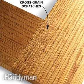 Sanding wood. http://www.familyhandyman.com/woodworking/tips/wood-finishing-tips/view-all