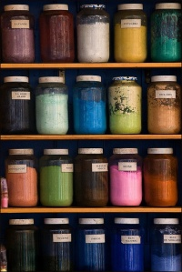 Moroccan dyes and pigments are exquisite. Image Source: https://www.flickr.com/photos/alainbachellier/3887164149/