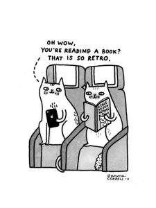Even cats read ebooks! Source: https://www.flickr.com/photos/gemmacorrell/5810191332/in/photostream/