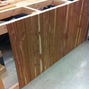 Look how sharp the recycled cedar looks!