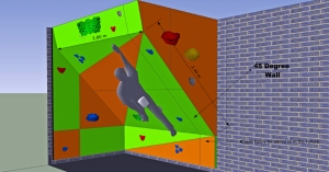 This is an example of what our climbing cavern would look like. Image from Dream Climbing Walls.