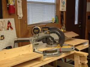 This is our cool Miter saw!