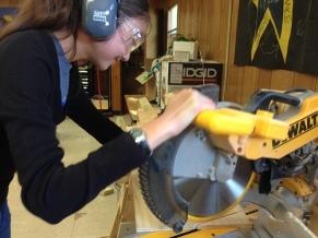 Using power tools.